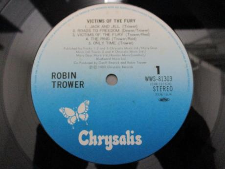 Robin Trower Victims of the Fury Japan Orig. LP OBI INSERT