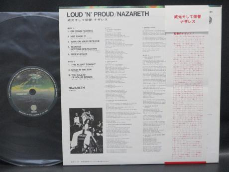 Nazareth Loud 'N' Proud Japan Early Press LP RED OBI DIF