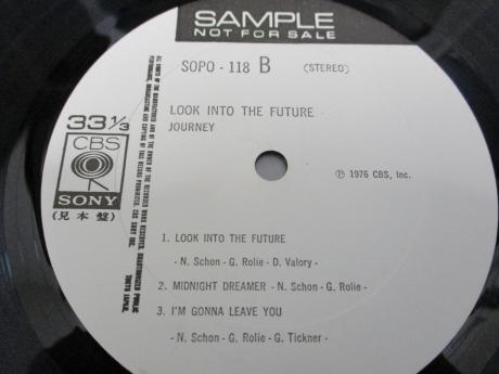 Journey Look into the Future Japan Orig. PROMO LP WHITE LABEL
