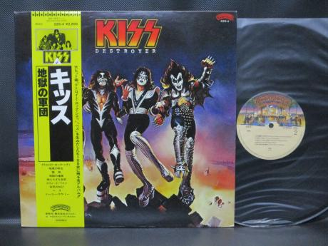 Kiss Destroyer Japan Rare LP YELLOW OBI