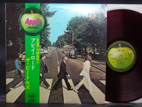 Beatles Abbey Road Japan Orig LP OBI INSERT RED WAX