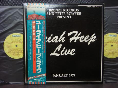 Backwood Records Uriah Heep Live Japan 2lp Obi Insert Used Japanese Press Vinyl Records For Sale