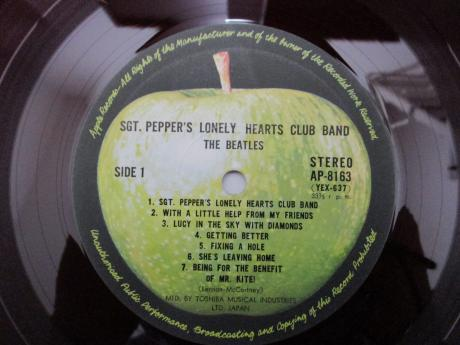 Beatles Sgt Pepper's Lonely Hearts Japan Apple 1st Press LP RED WAX