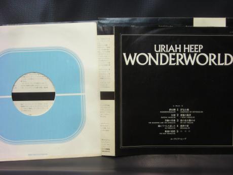 Backwood Records Uriah Heep Wonderworld Japan Orig Lp Obi Insert Used Japanese Press Vinyl Records For Sale