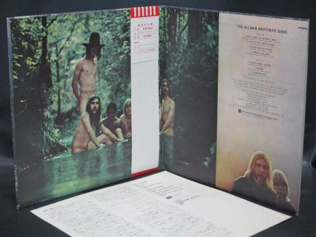 Allman Brothers Band 1st S/T Same Title Japan Early Press LP OBI