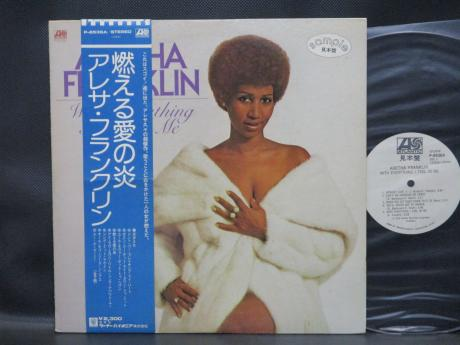 Aretha Franklin With Everything I Feel In Me Japan Orig. PROMO LP OBI WHITE LABEL