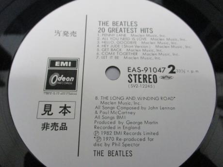 Beatles 20 Greatest Hits  Japan Orig. PROMO LP OBI WHITE LABEL