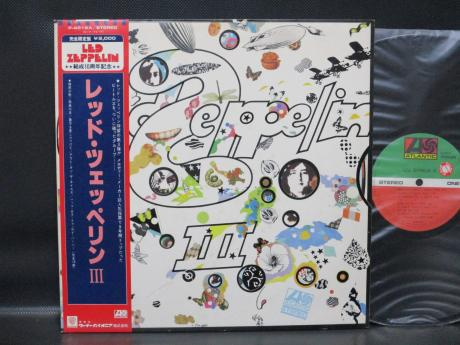 Led Zeppelin 3rd III Japan 10th Anniv LTD LP OBI