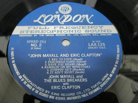 John Mayall and Eric Clapton With Bluesbreakers Japan LP OBI