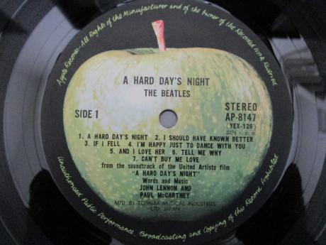 Beatles A Hard Day's Night Japan Apple Early Press LP ARROW OBI DIF