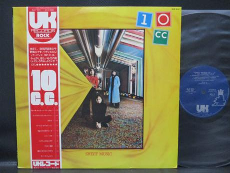10CC Sheet Music Japan Orig. LP OBI INSERT