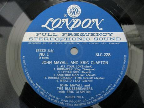 John Mayall and Eric Clapton Bluesbreakers Japan Early Press LP OBI DIF