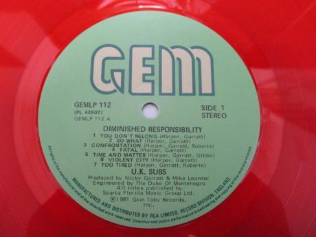 Backwood Records U K Subs Diminished Responsibility Uk