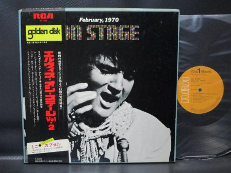 Elvis Presley On Stage 1970 Japan LP OBI BOX COVER BOOKLET