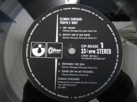 Climax Chicago Blues Band Climax Chicago Tightly Knit Japan Orig. LP ODEON