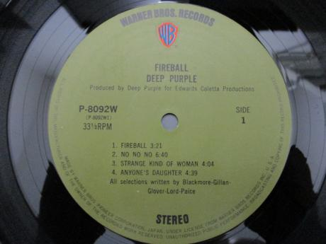 Deep Purple Fireball Japan Orig. LP 2OBI