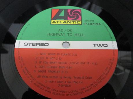 AC/DC Highway to Hell Japan Orig. LP OBI