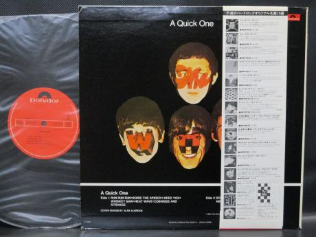 WHO A Quick One Japan LTD LP RED OBI INSERT