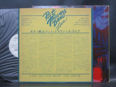 Pat Travers Band ‎Live! Go For What You Know Japan Orig. PROMO LP WHITE LABEL