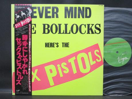 Sex Pistols Never Mind the Bollocks Japan Virgin LP OBI NM