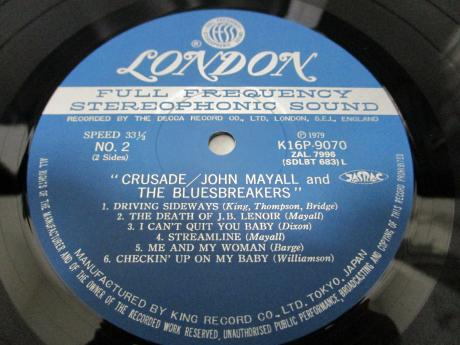 John Mayall Crusade Japan LTD LP OBI INSERT