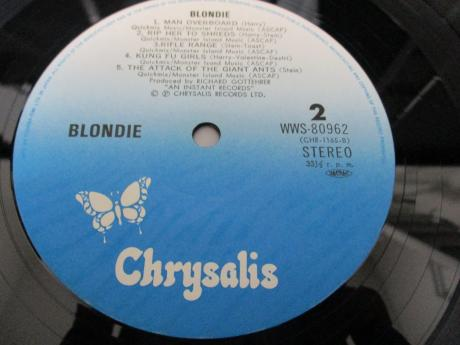 Blondie 1st S/T Same Title Japan Early Press LP OBI INSERT