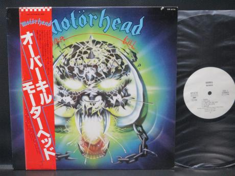Backwood Records : Motorhead Overkill Japan PROMO LP OBI