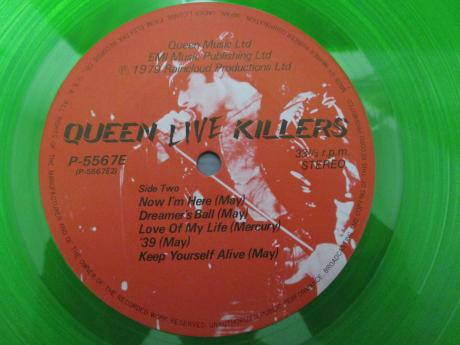 Queen Live Killers Japan Orig. 2LP OBI RED & GREEN DISC