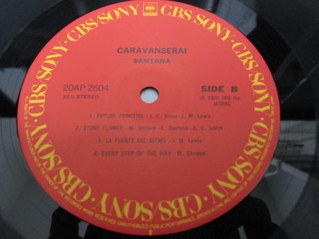 Santana Caravanserai Japan Tour ED LP CAP OBI SHRINK