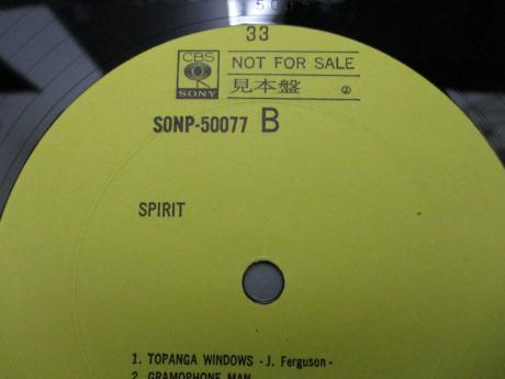 Spirit 1st Same Title Japan Orig. PROMO LP YELLOW LABEL